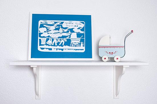 Frame - Baby cart on shelf