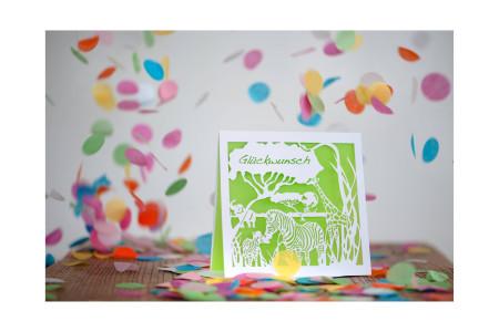 Coupure-Safari Mania-Glückwunsch