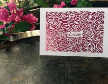 Simply Roses-Fuchsia with flower pot