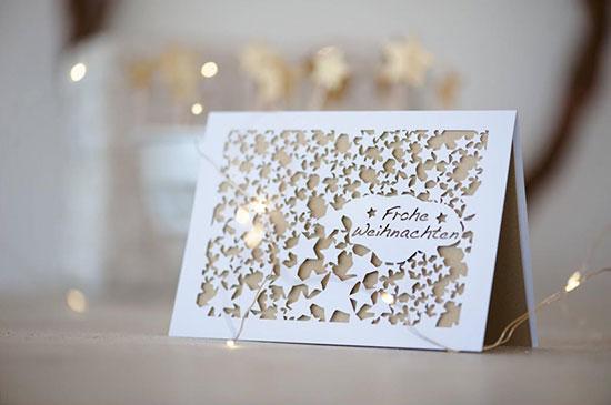 Card - Gold stars